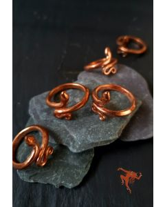 Isha Copper Snake Ring (Consecrated)